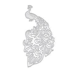 Cute Peacock Cutting Dies Stencil DIY Album Paper Card Scrapbooking Craft Gift…
