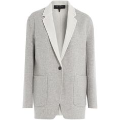 Rag & Bone Reversible Wool Blazer (30.185 RUB) ❤ liked on Polyvore featuring outerwear, jackets, blazers, blazer, grey, reversible jacket, blazer jacket, gray blazer, gray jacket and slim fit wool blazer
