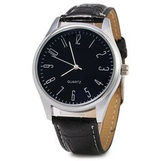 255 Silver Round Dial Quartz Watch with Arabic Number Scale for Men #>=#>=#>=#>=#> Click on the pin to check out discount price, color, size, shipping, etc. Save and like it!