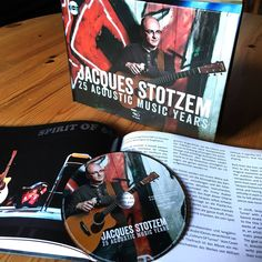 Jacques Stotzem celebrates 25 years of acoustic music on the same label. This booklet is full of photos, music, travels and anecdotes from Jacques' archives. I had the pleasure and honor to write the french biographical texte. limited edition of 500 pieces of this booklet including a CD with one piece of each CD Jacques Stotzem released on the label.