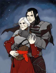 Eredin and Ciri by Abriza