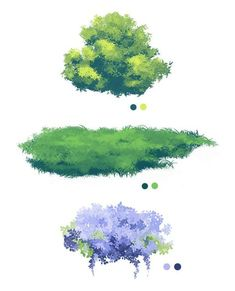 Photoshop Foliage/Grass Brush Pack by Lumaki-o on DeviantArt Digital Painting Tutorials, Digital Art Tutorial, Art Tutorials, Digital Paintings, Drawing Tutorials, Concept Art Tutorial, Landscape Drawings, Landscape Art, Art Drawings