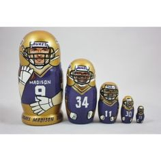 7f349904d1e JMU pride can come through anywhere, including through these nesting dolls!  Jmu Football,