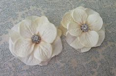 Bridal Ivory Hydrangea Hair Clips or Pins with by reneesboutique23, $17.95