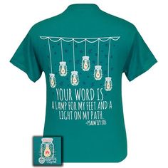 Your Word Is A Lamp For My Feet Christian T-Shirt | Psalm 119:105
