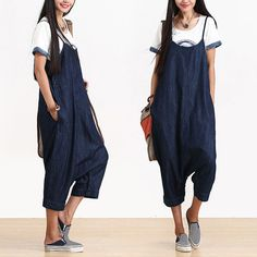 Casual Loose Fitting Comfortable and casual harem pants- Women Clothing (R)