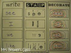 Lots of Kindergarten literacy center ideas!