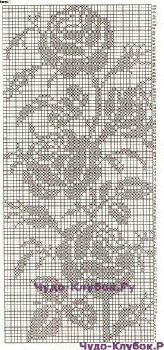 Crochet Borders, Crochet Chart, Thread Crochet, Crochet Motif, Crochet Stitches, Crochet Patterns, Crochet Curtains, Crochet Tablecloth, Cross Stitch Designs