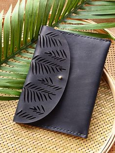 Tropical clutch - Licorice - genuine leather - Marco Visconti - Hong-Kong