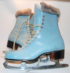 If only these were a 7!!! LOVE!! Baby Blue Vintage Ice Skates!!