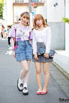 Harajuku Girls w/ Blonde Hair, Acid Wash, Sailor Moon, George Cox & Romantic Standard-Simple harajuku styles