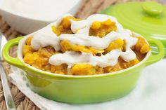 "PUMPKIN CHICKPEA CAULIFLOWER CURRY WITH FRESH 'CREAM"" SAUCE. NOT MADE"