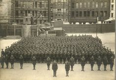 The Post Office Rifles, a regiment made up of postal workers, on parade during the First World War. World War One, First World, War Image, Military Personnel, Many Men, Troops, Soldiers, Post Office, Wwi