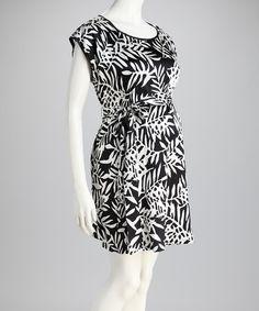White & Black Floral Riley Silk-Blend Maternity Dress - Women by Debbi O. Maternity on #zulily