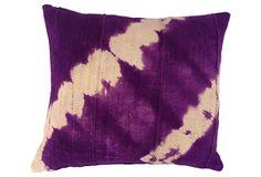 African Tie-Dyed Mud Cloth Pillow on OneKingsLane.com