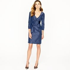This dress is more expensive (295) but ABSOLUTELY gorgeous and comes in caspian blue but NOT dark pacific.