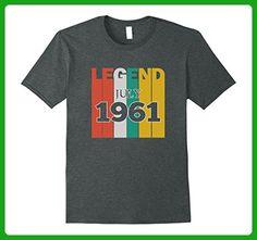 Mens Retro Vintage Legend July 1961 Birthday Gift tshirt Small Dark Heather - Retro shirts (*Amazon Partner-Link)
