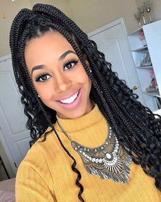 Box Braids Hairstyles For Black Women, African Braids Hairstyles, Braids For Black Women, Black Braids, Braid Hairstyles, Goddess Hairstyles, Protective Hairstyles, Short Hairstyles, Pretty Hairstyles