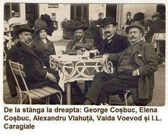 Caragiale (right) in a year before his death Old Pictures, Old Photos, Romania People, Honor Guard, Bucharest Romania, History Facts, Time Travel, Funny Photos, Movies And Tv Shows
