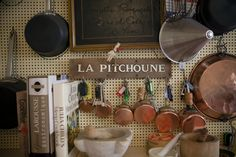 The kitchen at La Pitchoune, the French cottage that Julia Child lived in, in Provence.