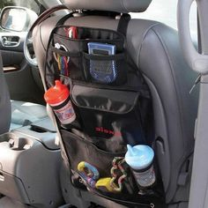 Diono Car Tidy Travel Organiser & Back Seat Protector - Kids Storage Stow n Go Seat Storage, Kids Storage, Toy Storage, Car Seat Accessories, Baby Accessories, Travel Accessories, Interior Accessories, Car Trip Organization, Backseat Car Organizer