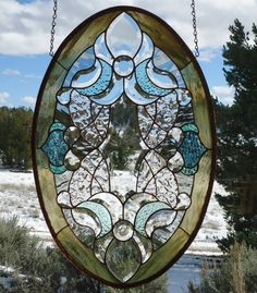 stained glass window panelBEVELED BEAUTY beveled Stained Glass Crafts, Stained Glass Windows, Beveled Glass, Mosaic Glass, New Panel, Blue Spruce, Blown Glass Art, Water Glass, Glass Flowers