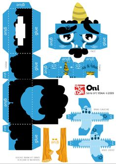 Image detail for -754 ogre oni papertoy template Logre Oni