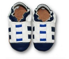 ekoTuptusie Tenisiaki białe z granatowym noskiem :) Soft Sole Shoes Sneakers White with Navy nose :) https://fiorino.eu/