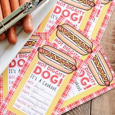 These free printable cookout invites (with matching menu cards) are perfect for all of your summer grilling get togethers.