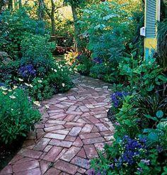 nice brick mosaic - meandering