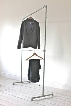 Are you interested in our reclaimed galvanised pipe clothing rail? With our free standing double industrial clothes rail you need look no further.