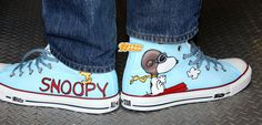Snoopy - Converse Sneakers