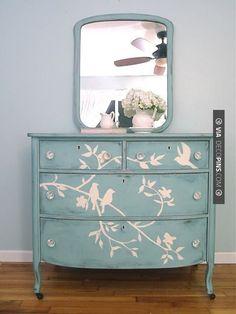 Awesome - Shades of Blue Interiors: Blue Bird Dresser | CHECK OUT MORE DRESSER IDEAS AT DECOPINS.COM | #dressers #dresser #dressers #diydresser #hutch #storage #homedecor #homedecoration #decor #livingroom