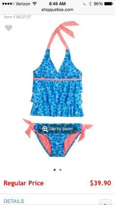 Shop justice cute swim suit 39.00 dollars!!!!!!