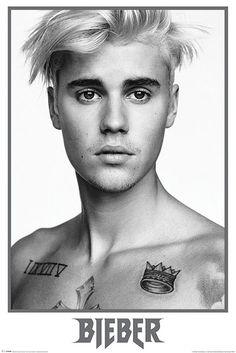 Justin Bieber Justin Bieber Black And White - Maxi Poster
