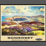 Vintage Travel,Somerset by train poster