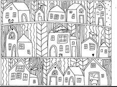 Rug Hook Paper Pattern Neighbors1 FOLK ART ABSTRACT MODERN UNIQUE Karla Gerard in Crafts | eBay