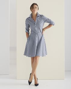 Jane Shirtdress in Plaid #serenaandlilyfashion
