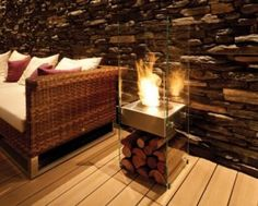modern restaurant fireplace - Google Search