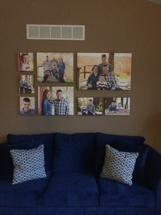 My gallery wall. Canvases ordered from shutterfly. I used one 20 X 30, two 10 X 14's, two 16 X 20's, and three 8 X 10's.