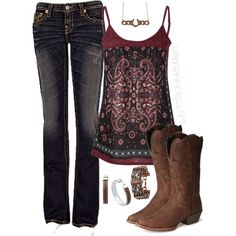 """Justin Stampede Boots"" by barnprincess97 on Polyvore"