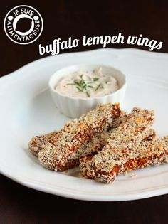 There's something magical about baked tempeh coated in homemade buffalo sauce and encrusted in panko crumbs.