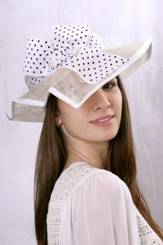 Summer asymmetric wide-brim hat by Irina Sardareva Couture Millinery