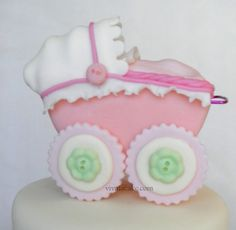 Baby carriage edible  cake topper and decorating by vivalacakeshop, $45.00