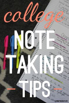 Here are some tips on how to take some great class notes.