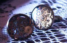 Timeless Round Steampunk Cufflinks