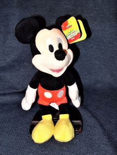 "Retired Disney Junior Mickey Mouse Clubhouse Mickey 9"" Plush Just Play 3+ NWT #Disney"