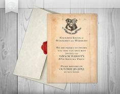 Harry Potter Inspired Printable Invitation // by PantonePearl