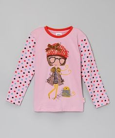 Look at this #zulilyfind! Pink Girl Polka Dot Shirt - Infant, Toddler & Girls by Rainbow Hearts Boutique #zulilyfinds