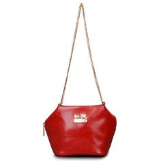 Discount Coach Saffiano Logo Small Red Crossbody Bags EMH Clearance